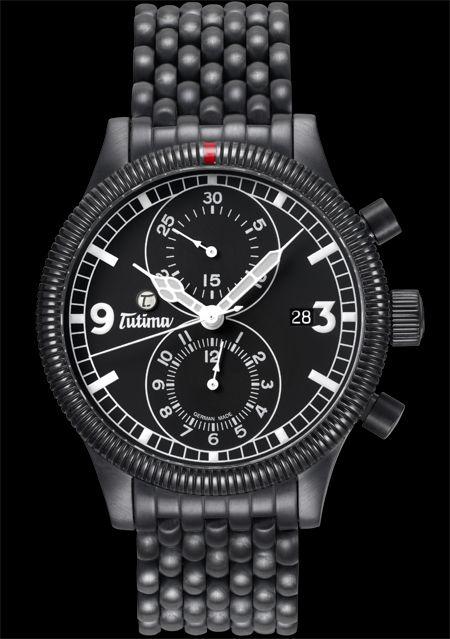 часы Tutima The Grand Classic Black Chronograph