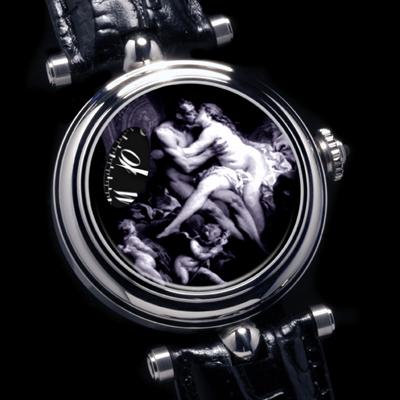часы Angular Momentum Verre Èglomisè en Grisaille