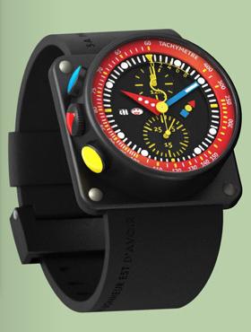 часы Alain Silberstein iKRONO BLACK & RED