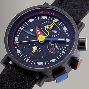часы Alain Silberstein Black Krono Bauhaus