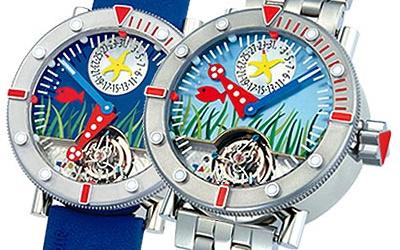 часы Alain Silberstein Tourbillon Marine Blue Sea