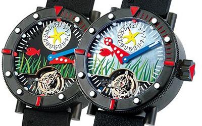 часы Alain Silberstein Tourbillon Marine Black Sea