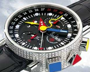 часы Alain Silberstein Krono Bauhaus 2 Diamonds