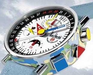 часы Alain Silberstein Krono Bauhaus 2 Laque Cloisonne