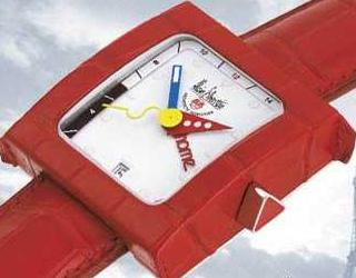 часы Alain Silberstein Pave GMT Cuir Red