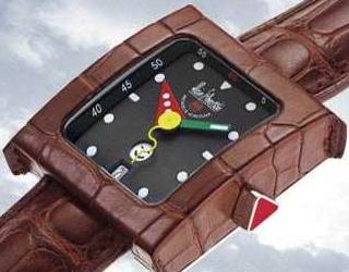 часы Alain Silberstein Pave GMT Cuir Brown