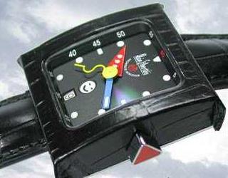 часы Alain Silberstein Pave GMT Cuir Black
