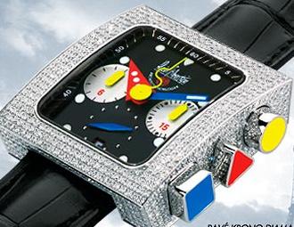 часы Alain Silberstein Pave Krono Diamond