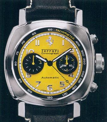 часы Ferrari Granturismo Chronograph Yellow Dial