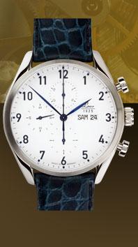 часы Laco Valjoux 44 blue