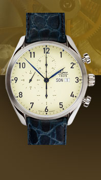 часы Laco Valjoux 44 blue 2