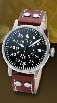 часы Laco Pilot 45 Type A hand winding