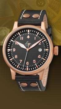 часы Laco Elegant Pilot Rosegold 42 Type A, automatic