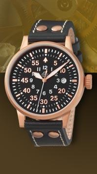 часы Laco Elegant Pilot Rosegold 42 Type B, quartz
