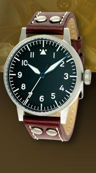 часы Laco Pilot 42 Type A hand winding