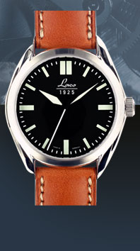 часы Laco Navy 36 black