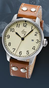 часы Laco Navy Miyota creme Automatic