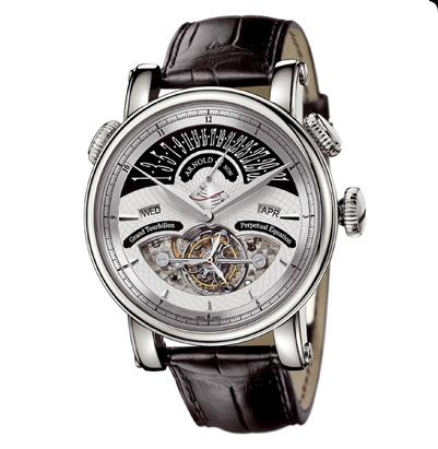 часы Arnold & Son White gold silver dial