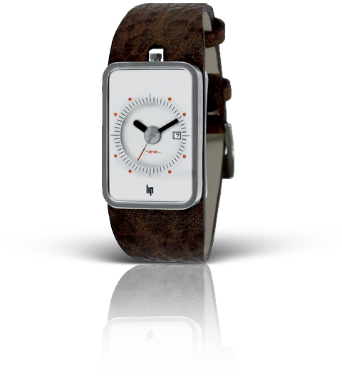 часы Lip Fridge marron blanc