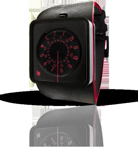 часы Lip Automythic rouge & noir