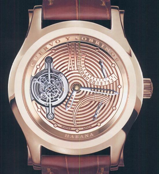 часы Cuervo y Sobrinos Robusto Tourbillon