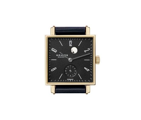 часы Nomos Tetra Gold Gangreserve anthrazit