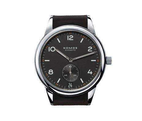 часы Nomos Club Automat Datum dunkel