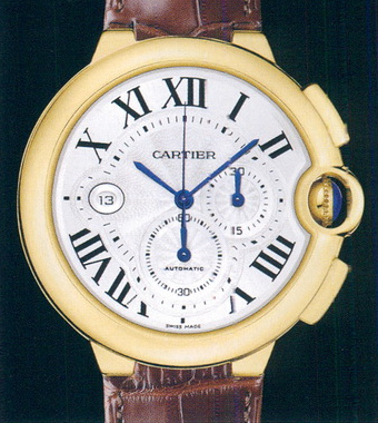 часы Cartier Ballon Blue Chronograph