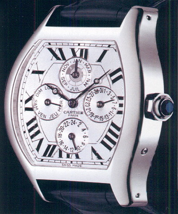 часы Cartier Tortue Perpetual Calendar Dual Time Collection Privee