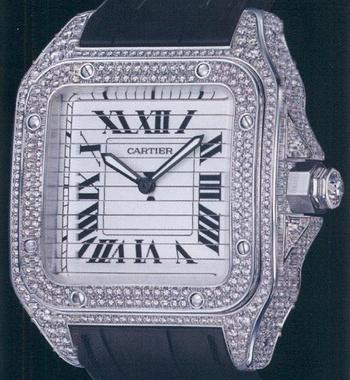 часы Cartier Santos Triple 100