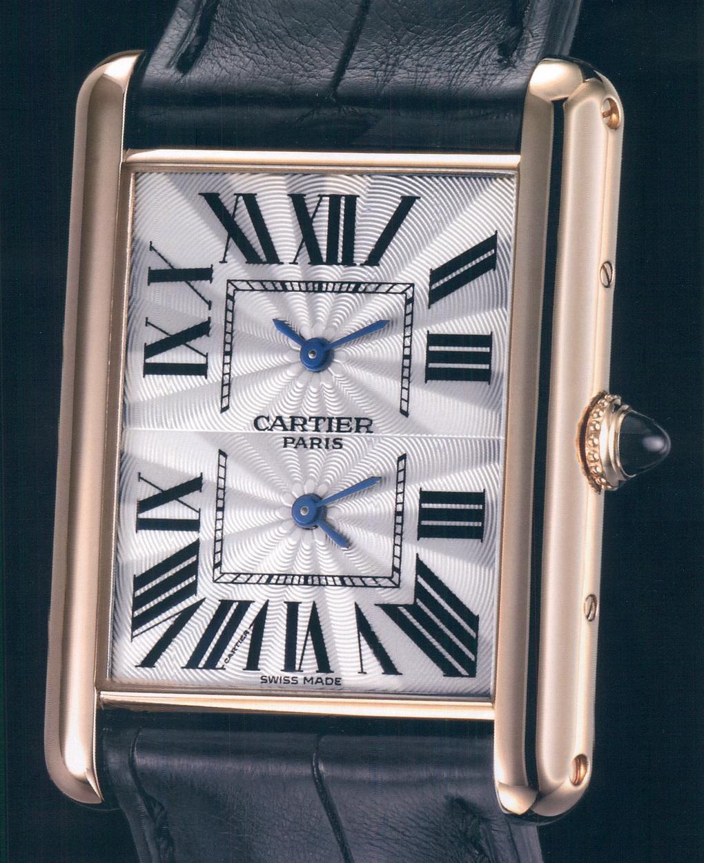 часы Cartier Tank Louis Cartier XL 2 Timezone