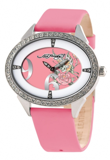 ���� Ed Hardy Skull Butterfly And Rose Showgirl