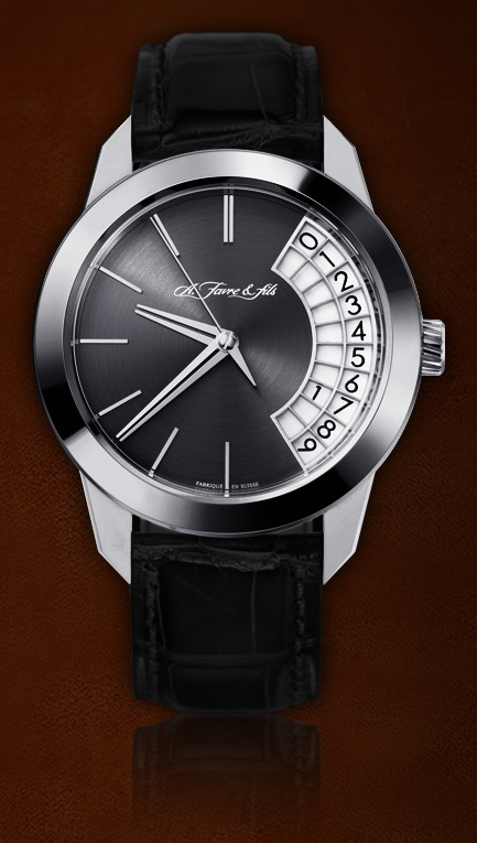 часы A. Favre & Fils Quantième à Grand Affichage Rotatif