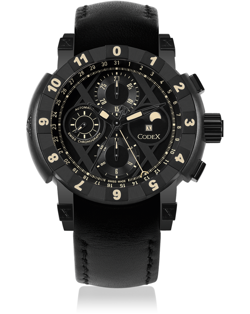 часы CodeX CHRONO Black diamond