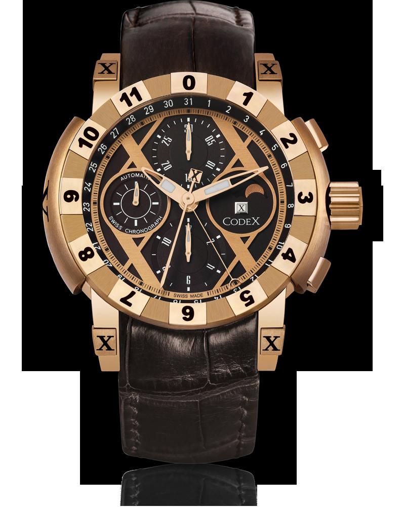часы CodeX CHRONO Rose gold