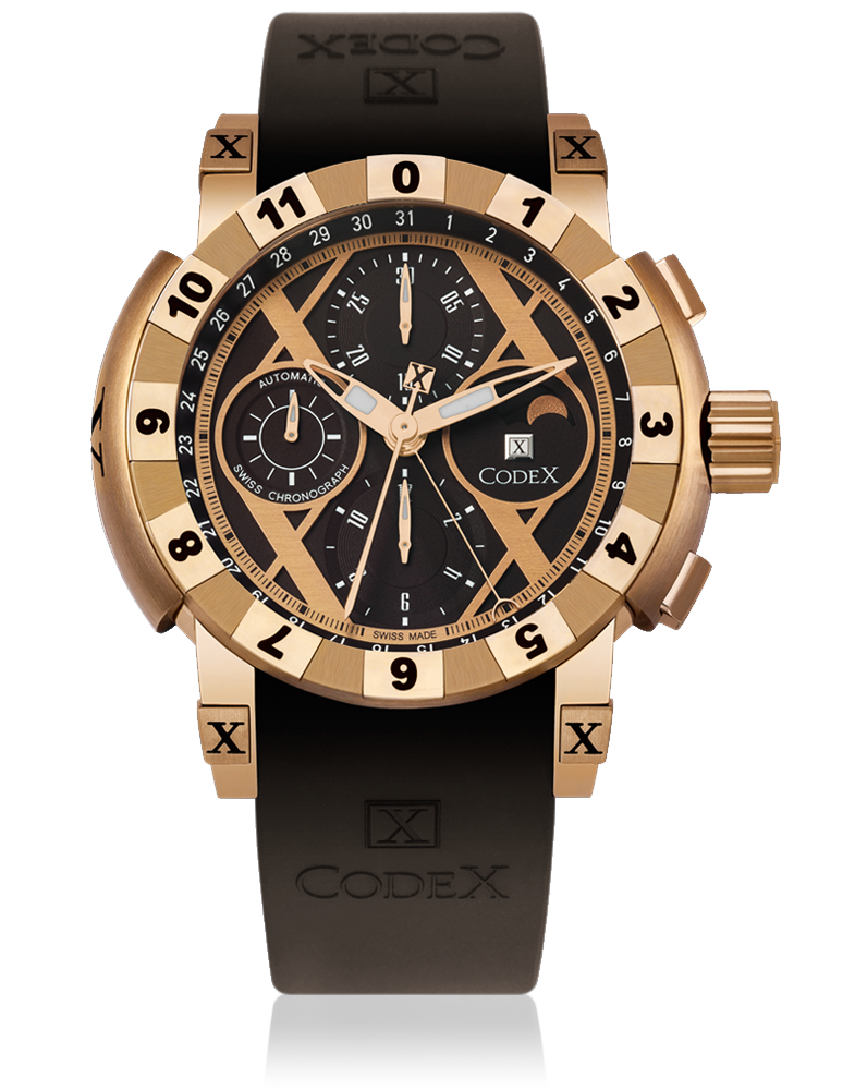 часы CodeX CHRONO Rose gold