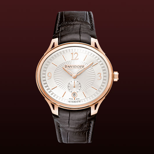 часы Davidoff Red gold silvered dial