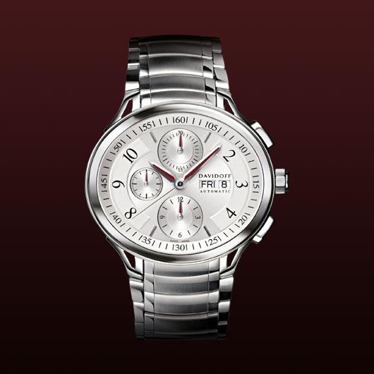 часы Davidoff Chronograph silvered dial