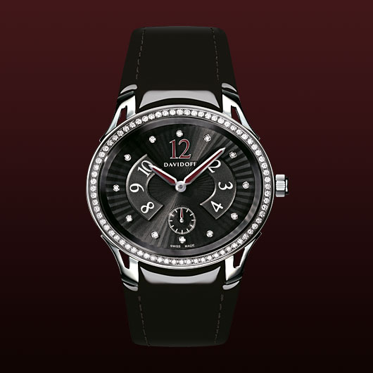 часы Davidoff Lady quartz diamonds black dial