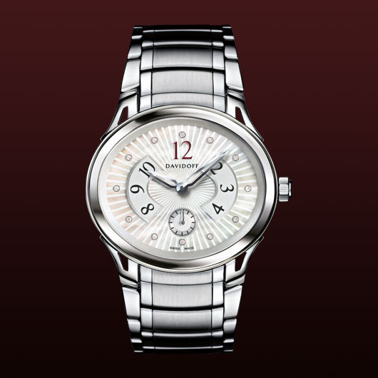 часы Davidoff Lady quartz white mother of pearl dial guilloche
