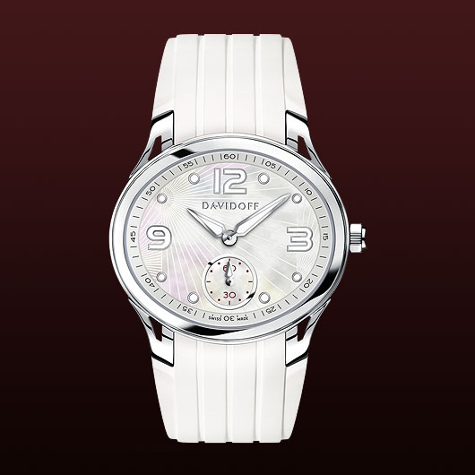 часы Davidoff Lady quartz white mother of pearl dial
