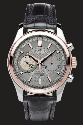 часы Armand Nicolet Grey Dial in Steel