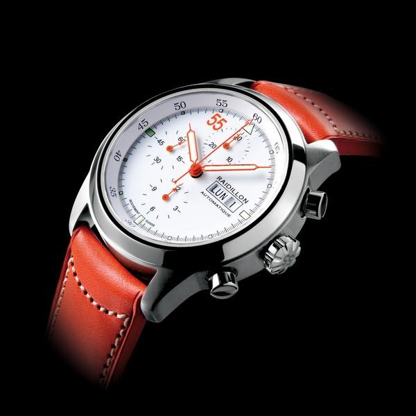 часы Raidillon 44mm Automatic Chronograph White