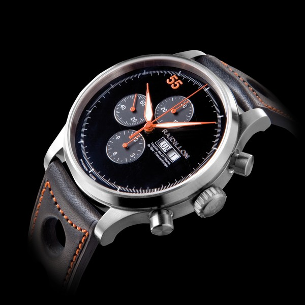часы Raidillon 48mm Automatic Chronograph Black