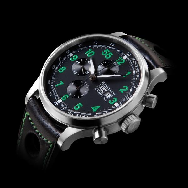 часы Raidillon 48mm Automatic Chronograph Black Green