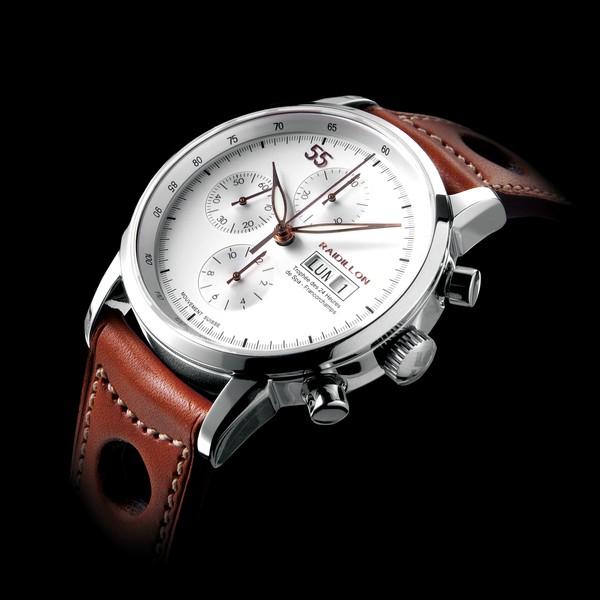 часы Raidillon 42mm Automatic Chronograph White 55