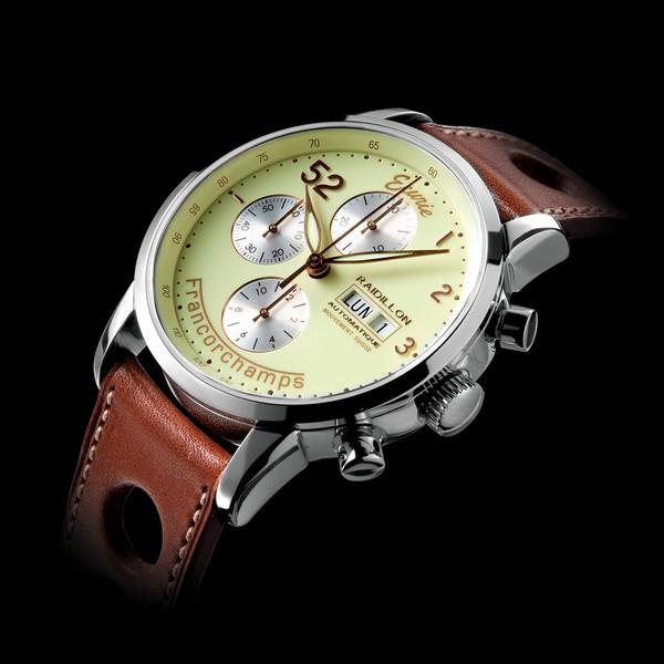 часы Raidillon 42mm Automatic Chronograph Ecurie Francorchamps Vanilla