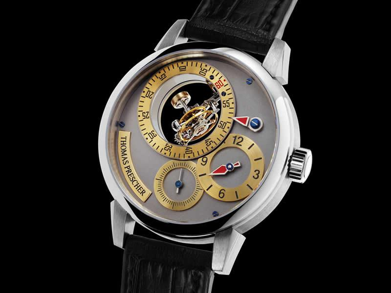часы Thomas Prescher Triple Axis Tourbillon Regulator Sport