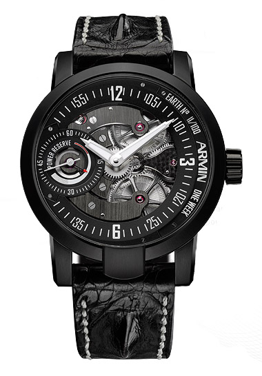 часы Armin Strom One Week Earth Stainless steel PVD-coated black Limited Edition 100