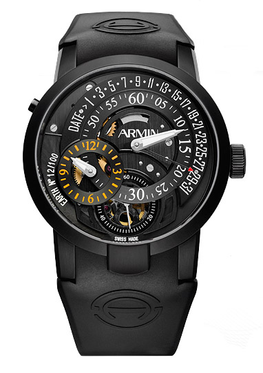 часы Armin Strom Regulator Earth Titanium PVD black Limited Edition 100